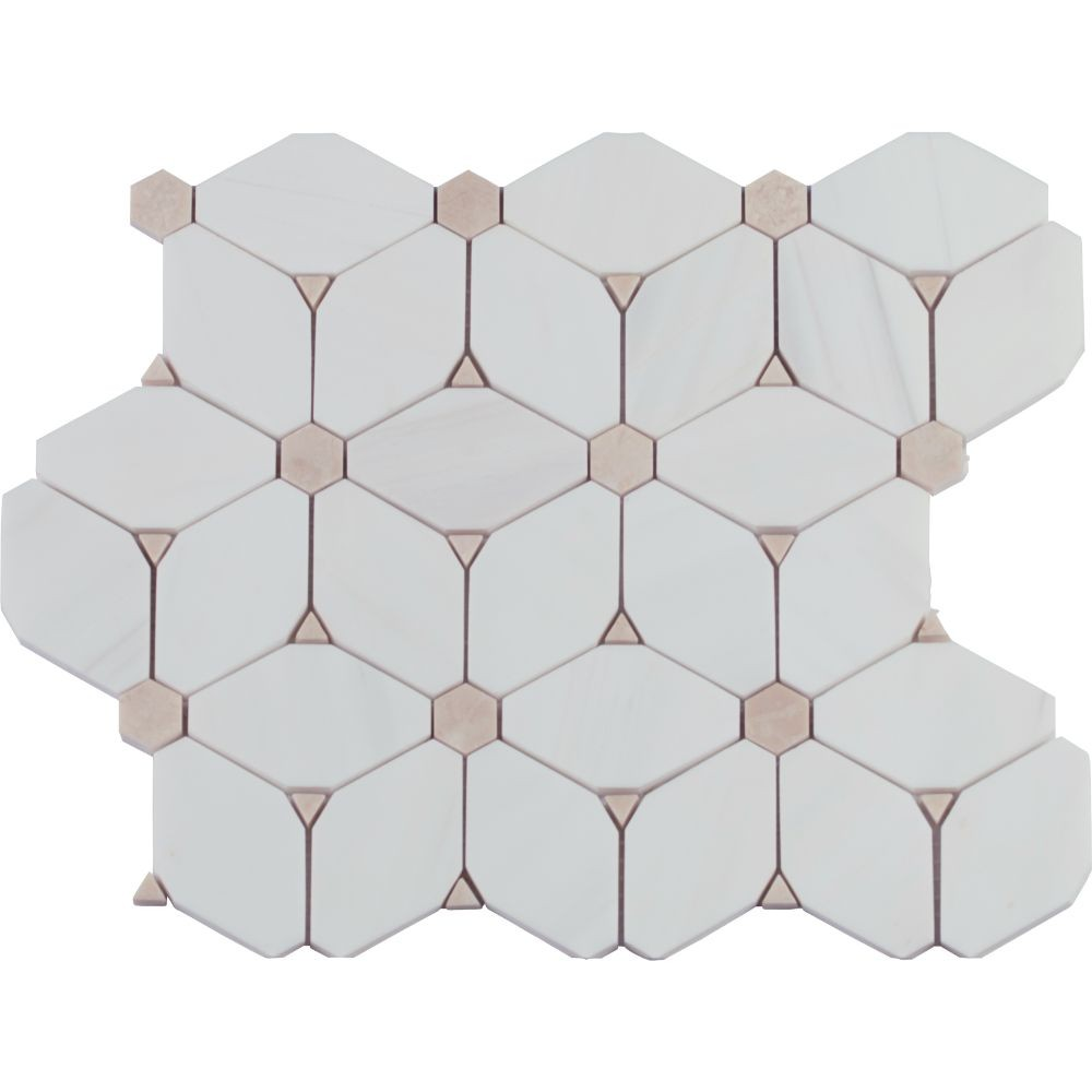 Cecily Pattern Polished Marble Mosaic