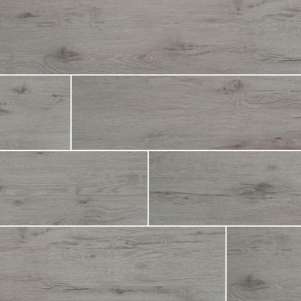 8x40 Black Matte Wood Look Ceramic Tile