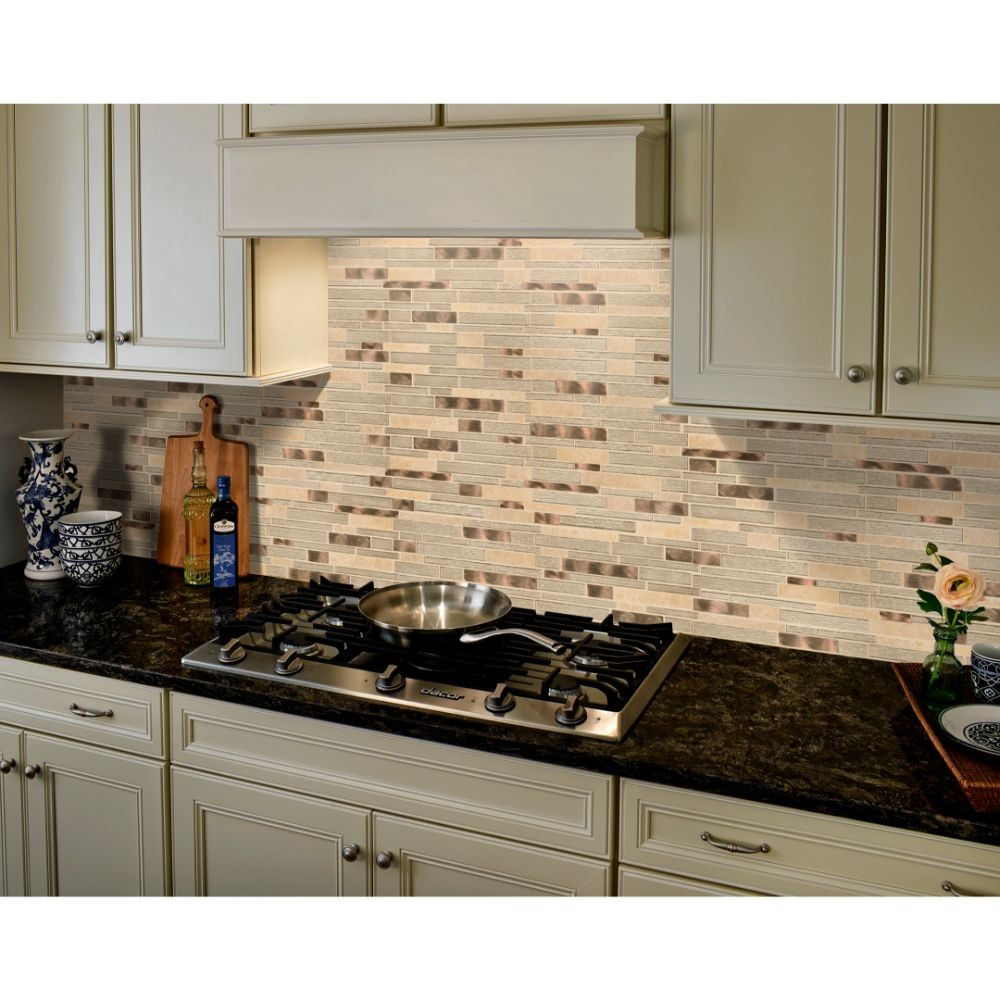 Champagne Toast Interlocking Glass Tile