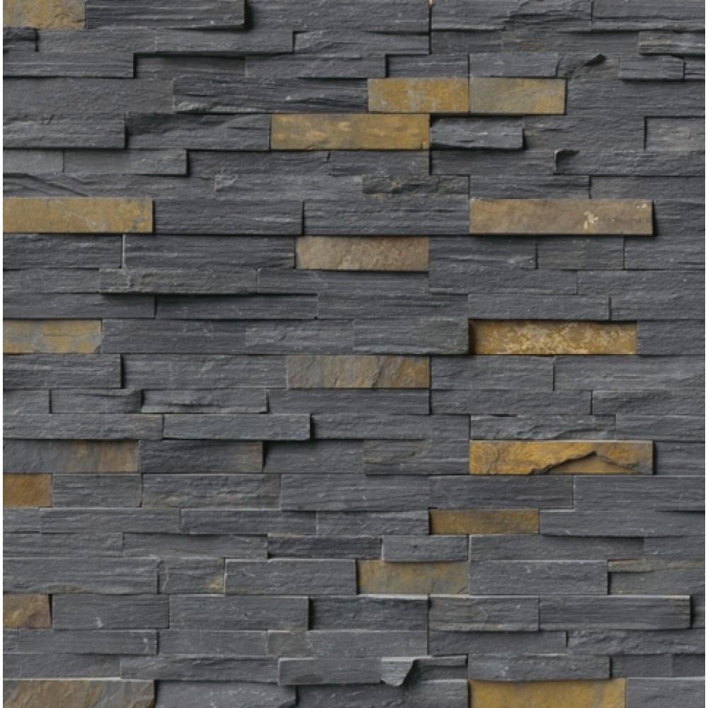 Charcoal Rust Ledger Panel 6x24 Split Face