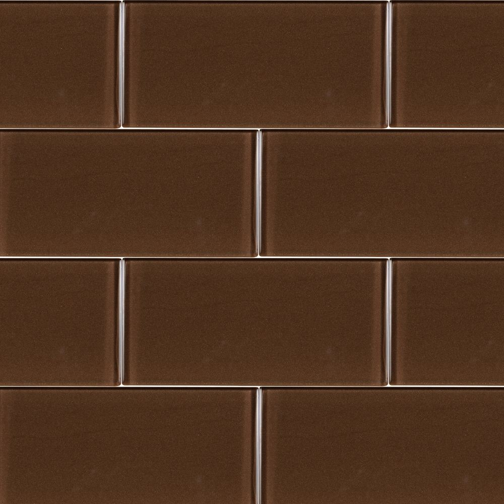 Cinnamon Glass 3x6x8MM Subway Tile