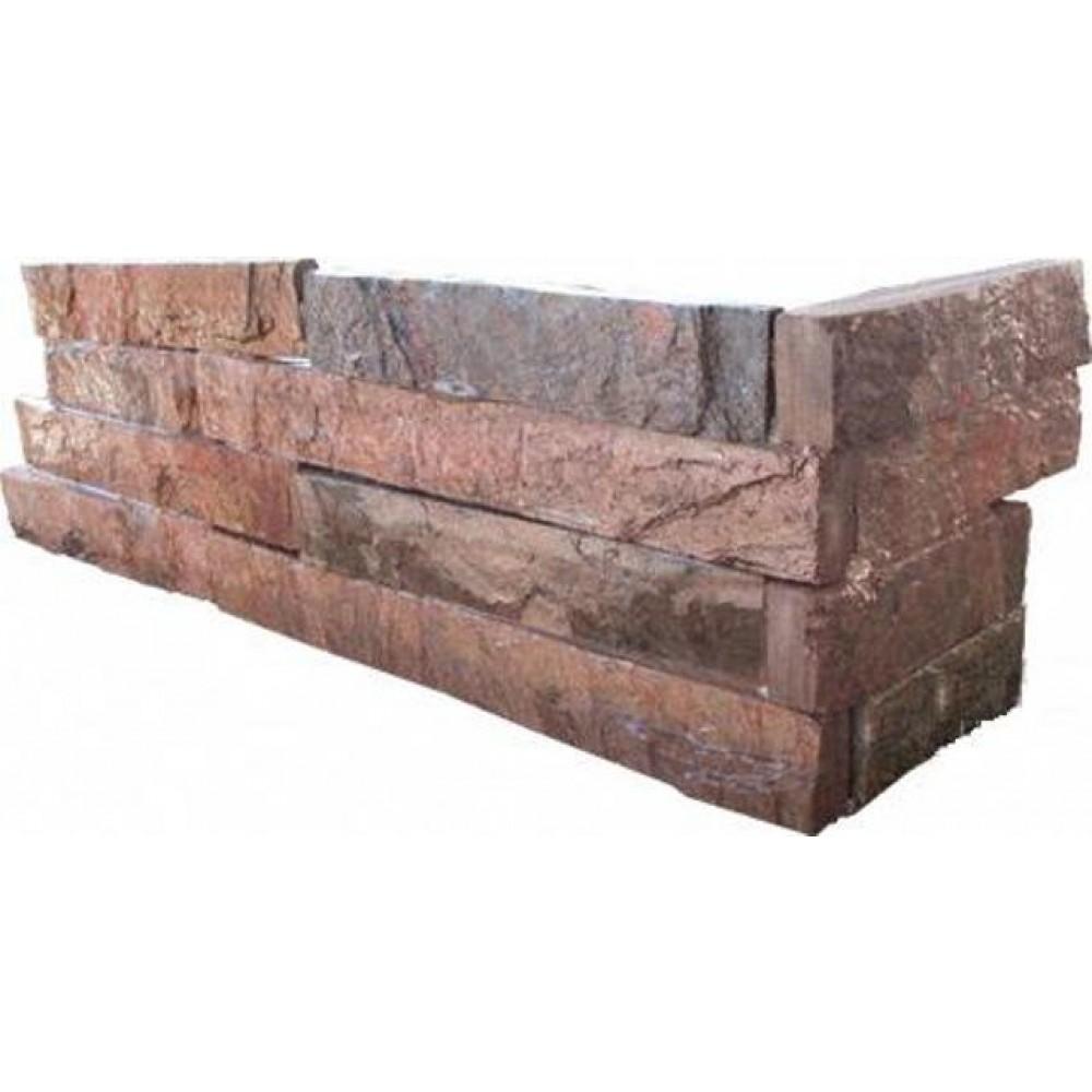 Copper 6x18x6 Split Face Corner Ledger Panel