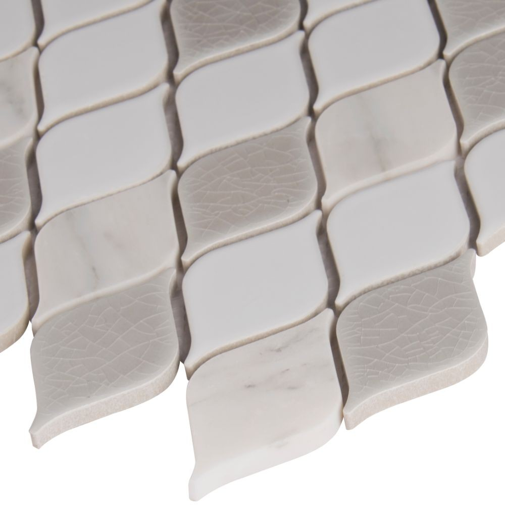 Cresta Blanco 8mm Pattern Porcelain Mosaic