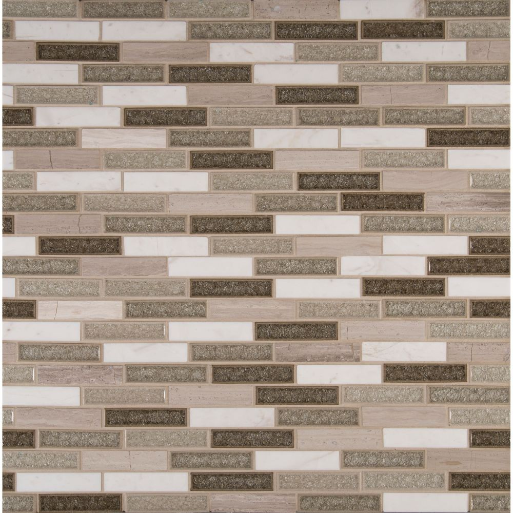 Crystal Cliffs 1X4X8MM Interlocking Brick Pattern Mosaic