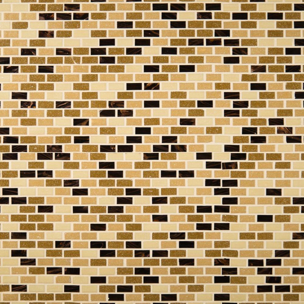 Desert Spring Mini Brick Glas Tile