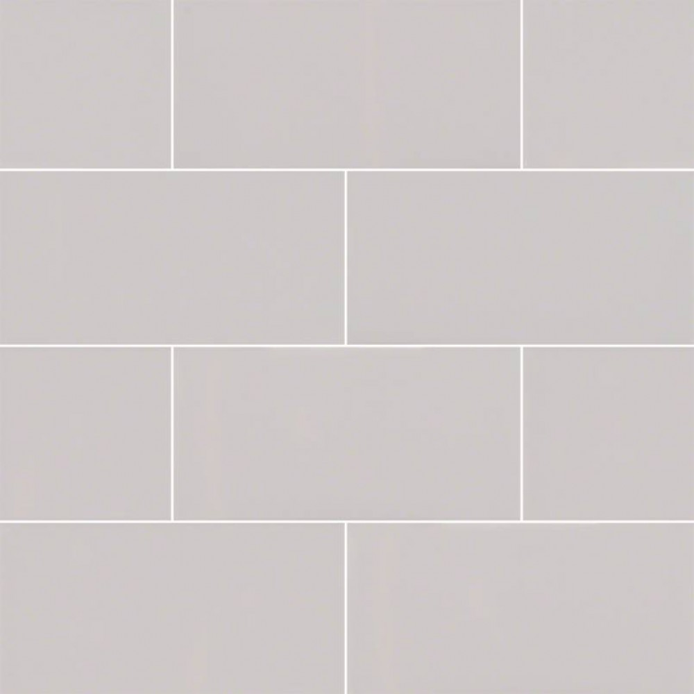 Domino Gray 3X6 Glossy Subway Tile