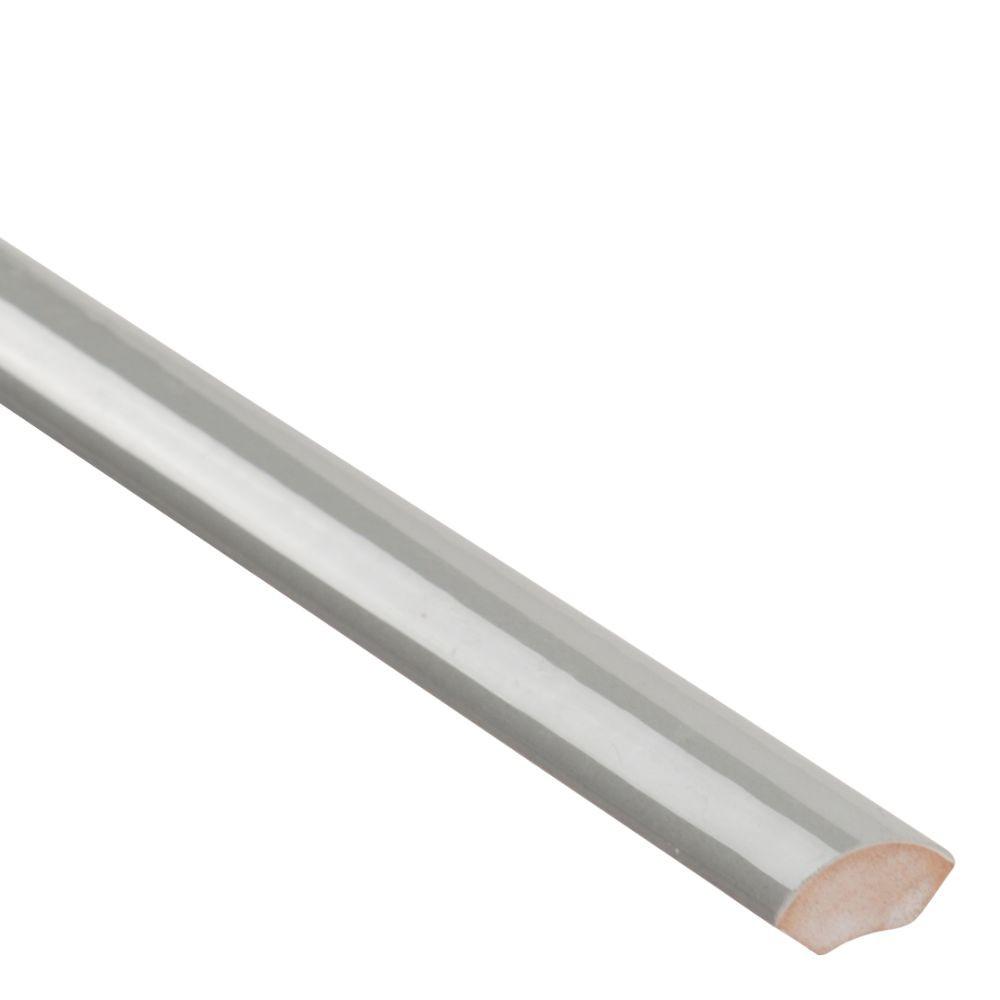 Domino Gray Glossy 1 2x12 Pencil Ceramic Molding