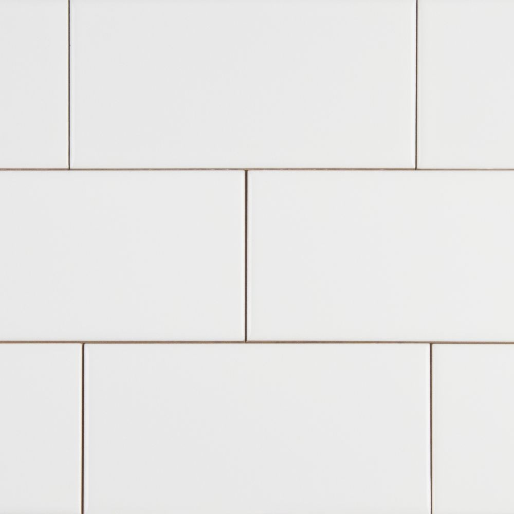 Domino White Glossy 3X6 Subway Tile