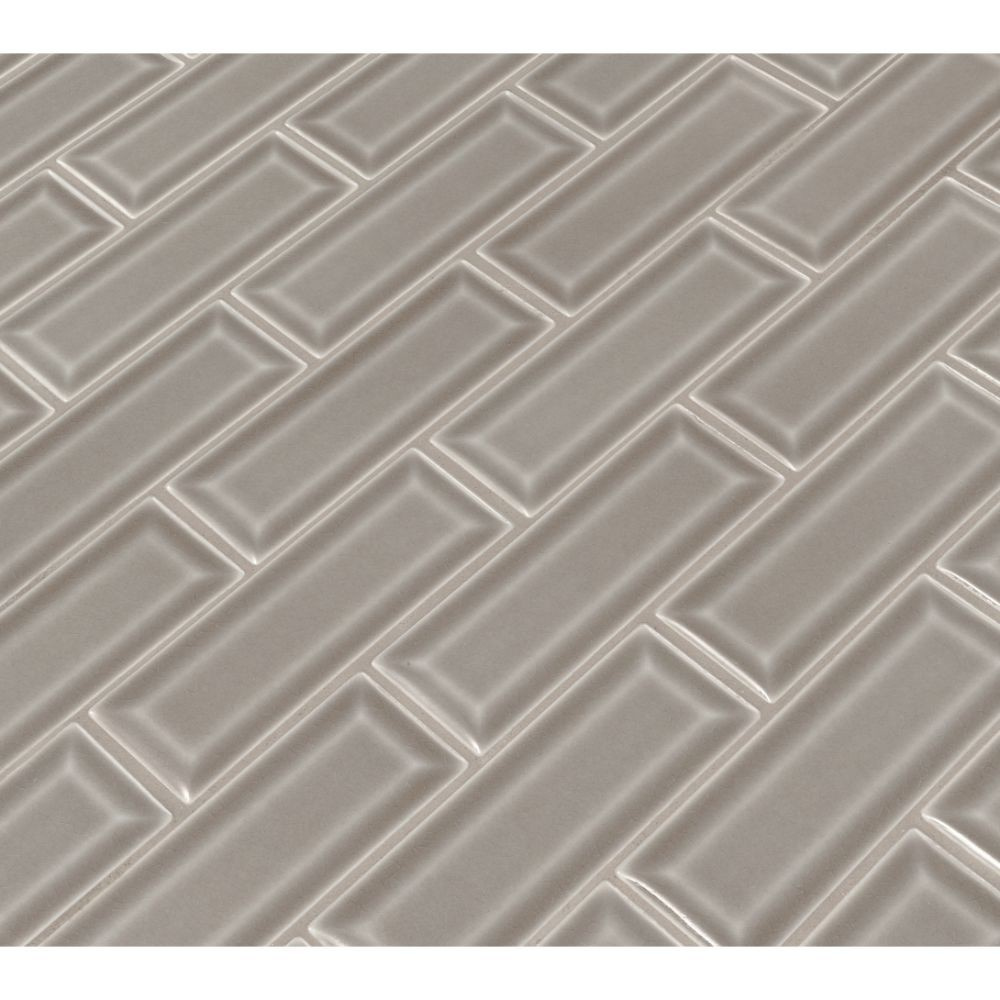 Dove Gray 2x6 Bevel Subway Ceramic Tile