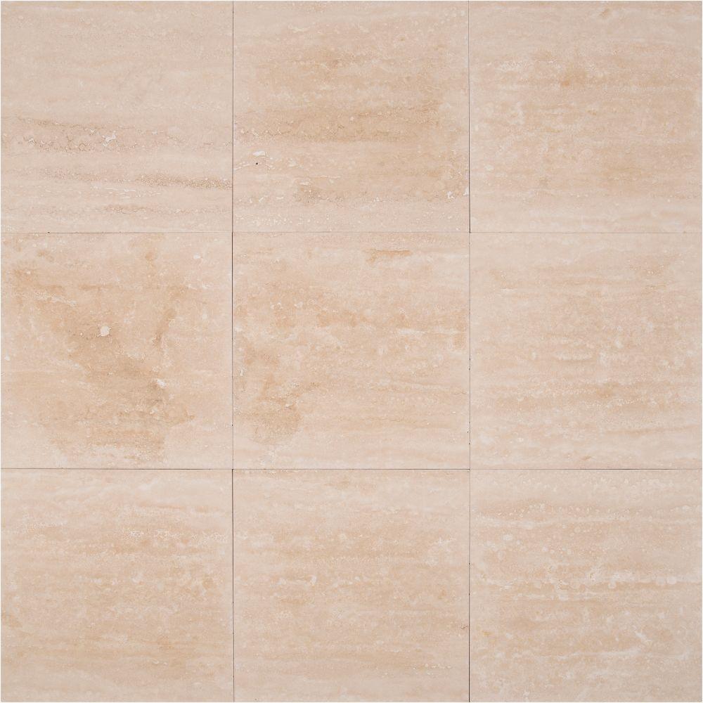 Durango Cream 12X24 Honed Filled Travertine Tile