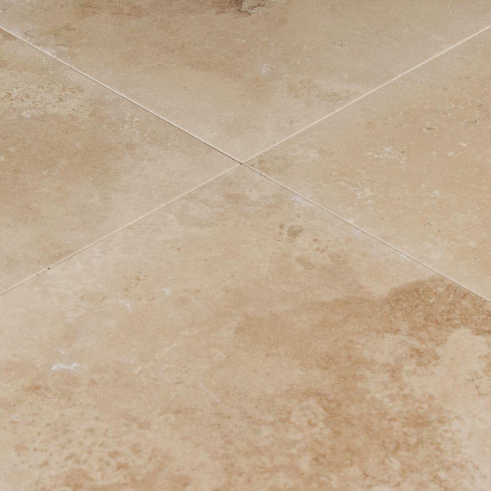Durango Cream 18X18 Honed / Filled Travertine Tile