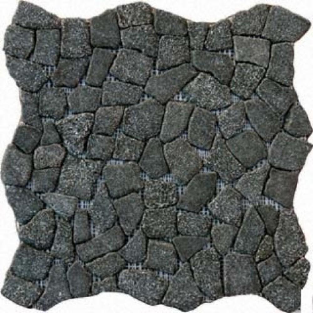 Flat Charcoal Pebbles 16X16 Tumbled