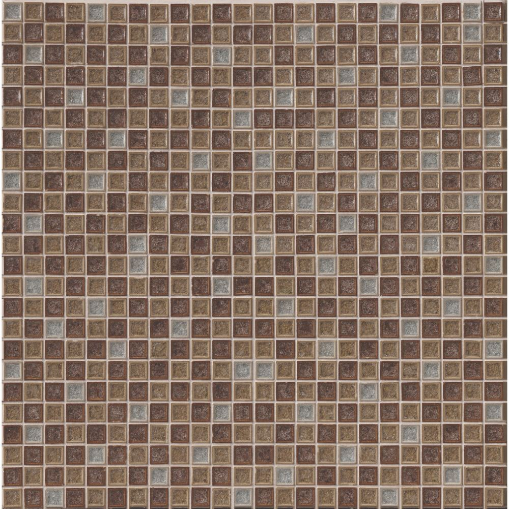 Fossil Canyon 1X1 Blend Crackled Glass Mosaic