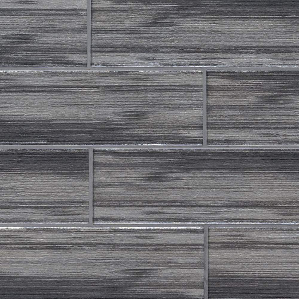 Glacier Black 3x9 Glass Subway Tile