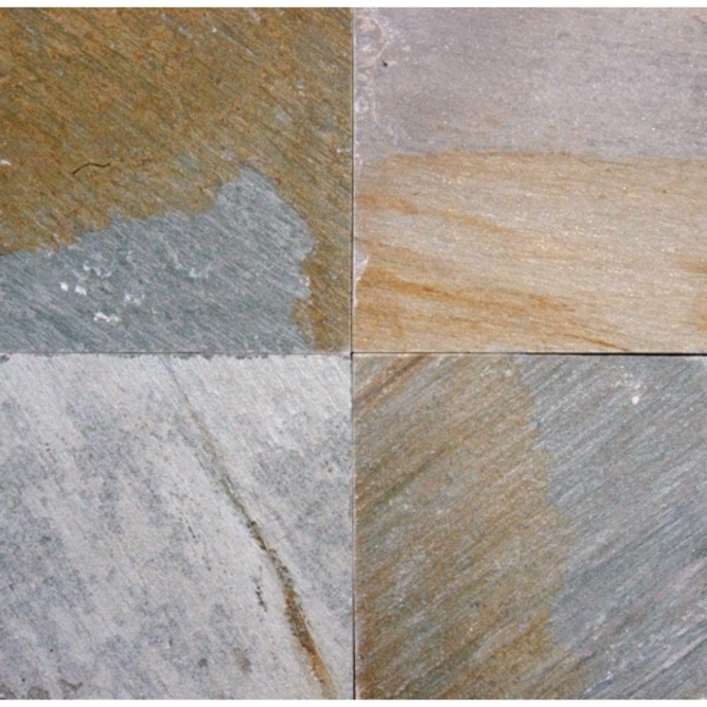 Golden White Paver 12X12 Gauged - Sides Sawn Cut