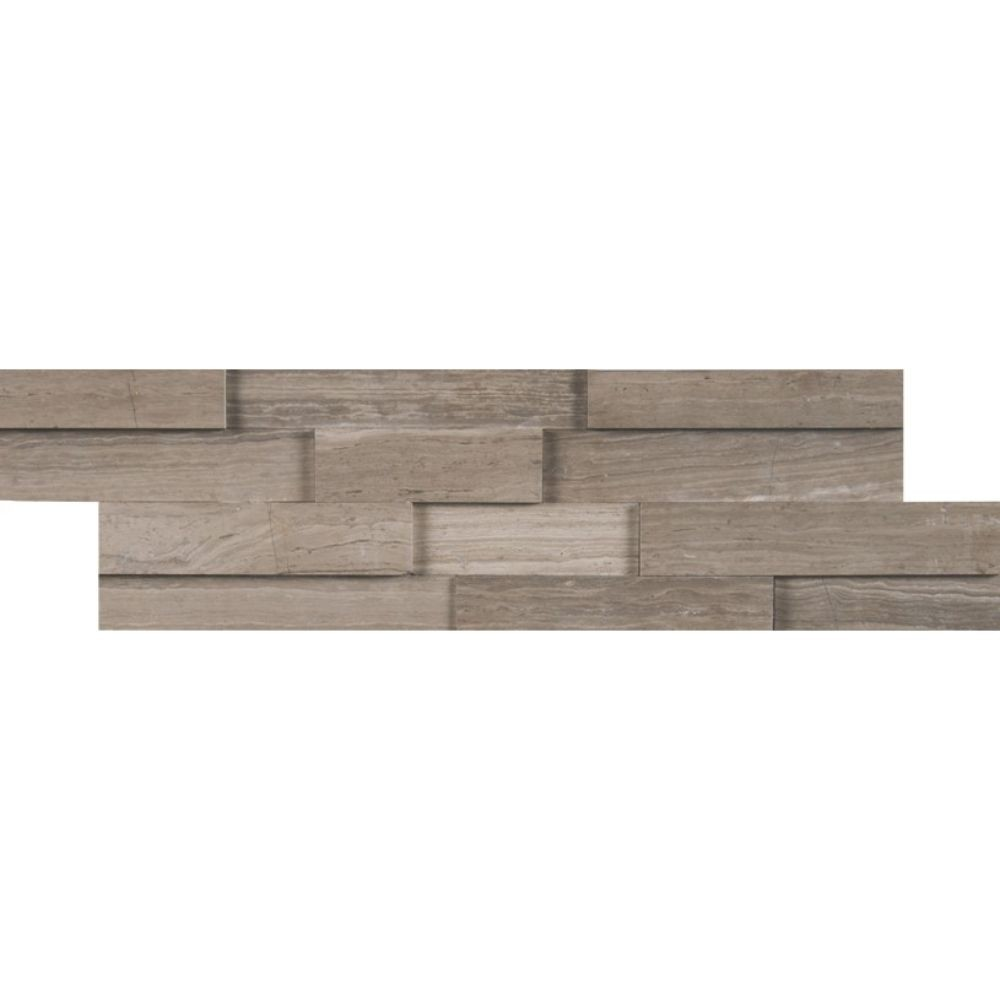 Gray Oak 4.5x16 3D Honed Mini Ledger Panel