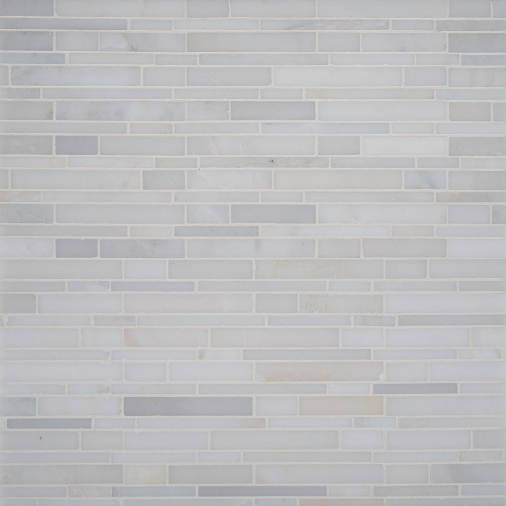 Greecian White Interlocking Pattern Polished Mosaic