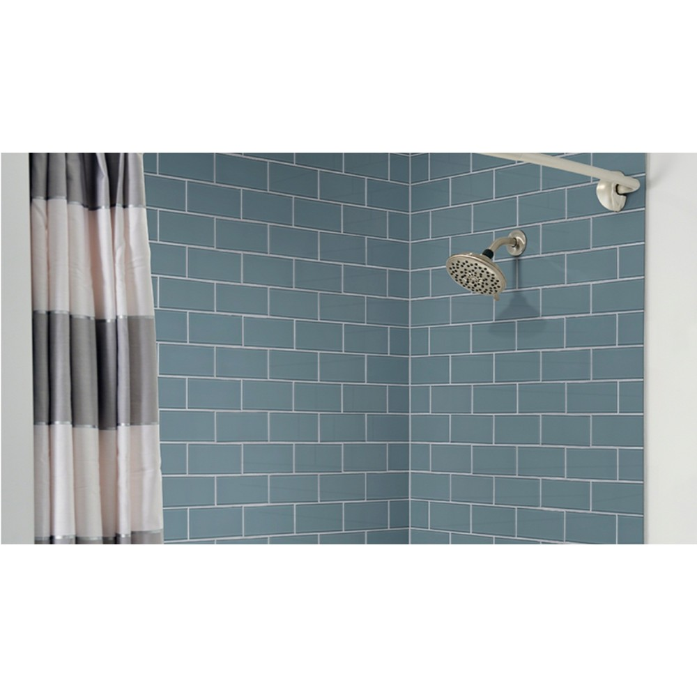 Harbor Gray 3X6 Glass Subway Tile