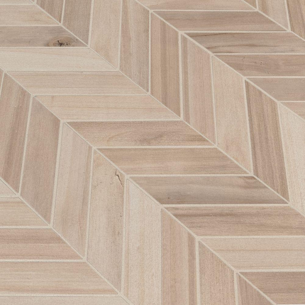 Havenwood Beige 12X15 Matte Chevron Mosaic