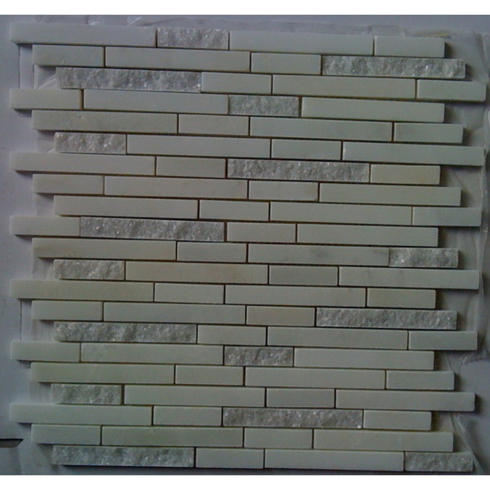 Arabescato Carrara Duo Interlocking 12x12 Mosaic