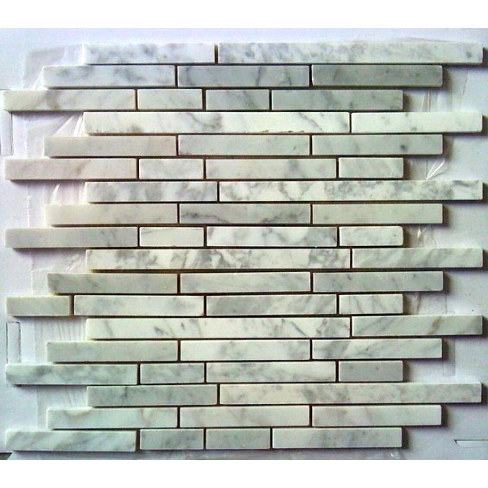 Arabescato Carrara Maze Interlocking 12x12 Mosaic