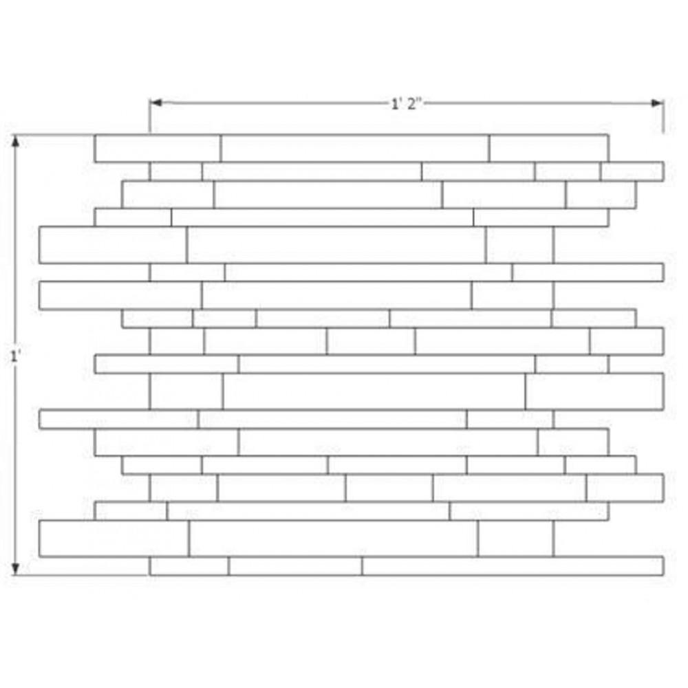 Stainless Steel 11.75x14 Interlocking Mosaic