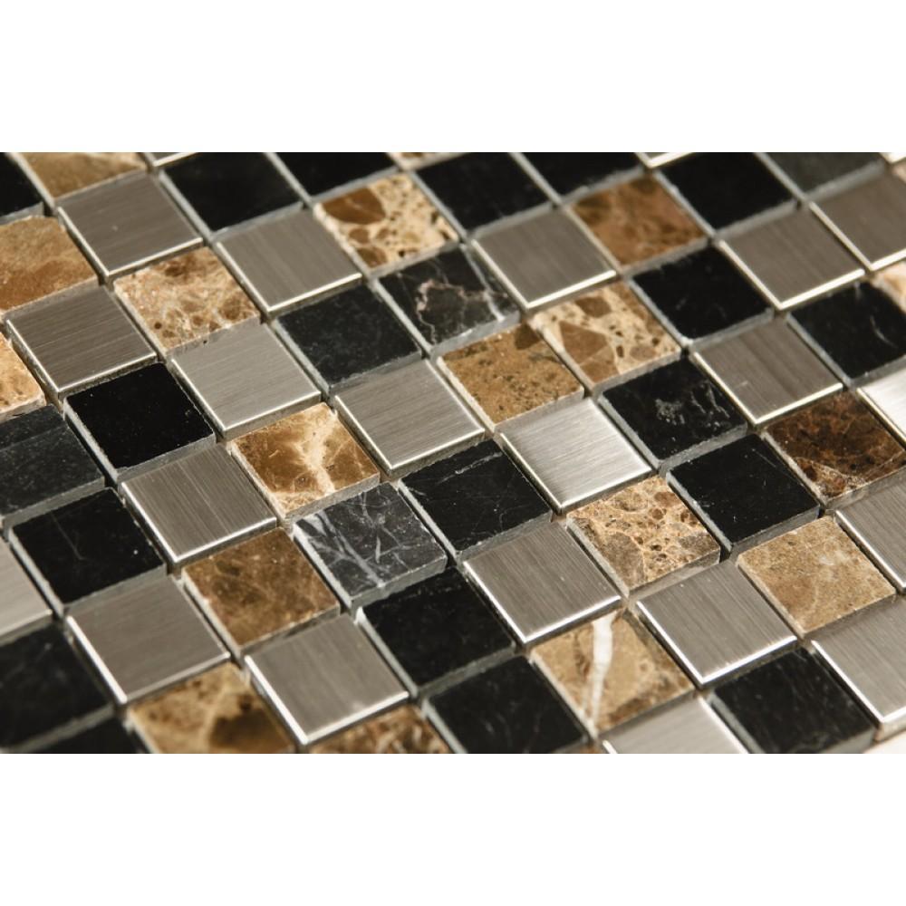 Siberian Brown 1x1 Honed / Polished Blend Mosaic