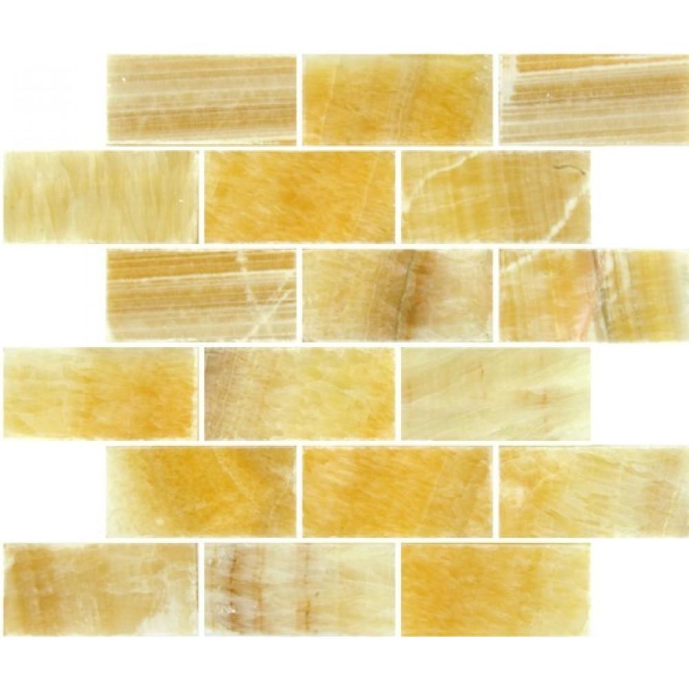 Honey Onyx 2x4 Polished Subway