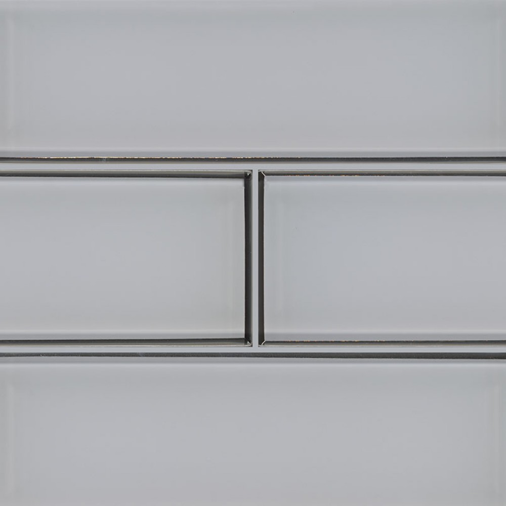 Ice Bevel 4x12 Glossy Glass Subway Tile