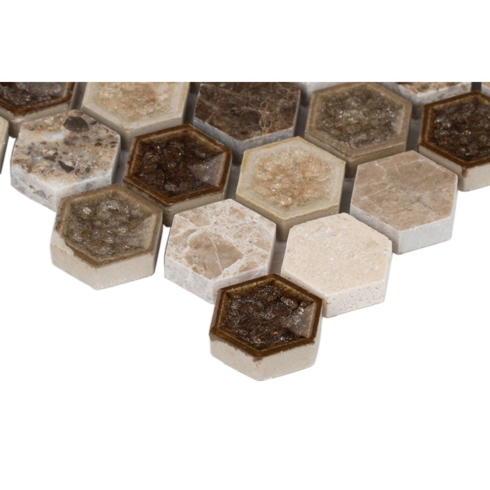 Kensington 1x1 Hexagon 8mm Mosaic