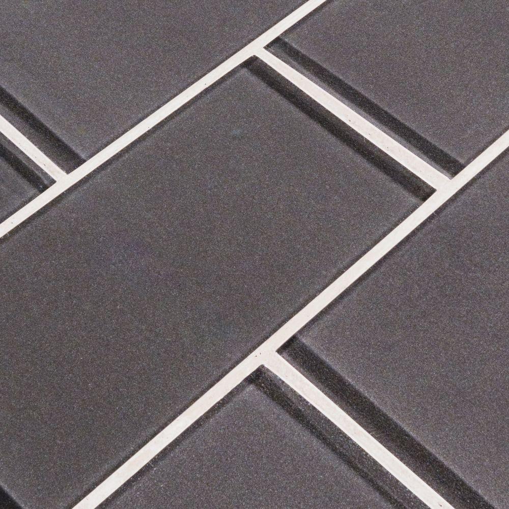 Metallic Grey 3X6 Crystallized