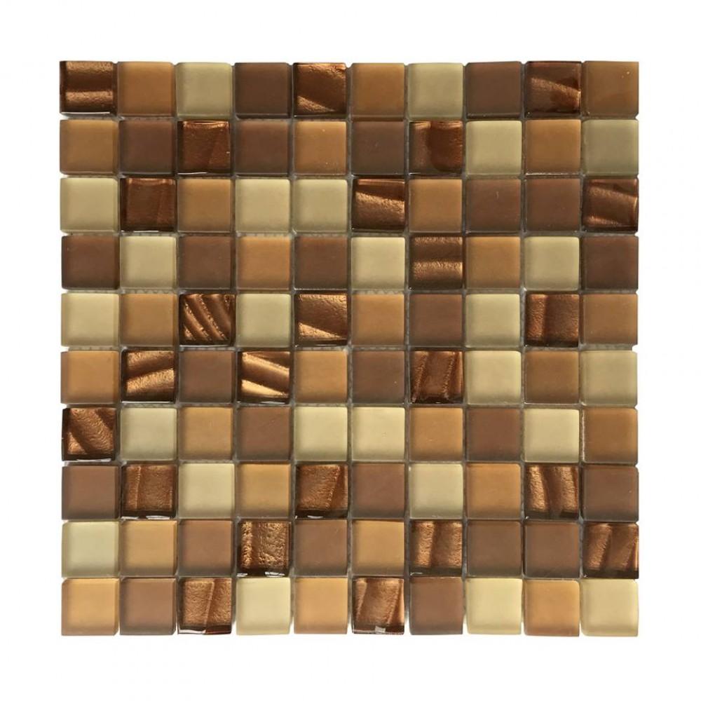 Metro Mod Crystallized 1x1Glass Mix Mosaic
