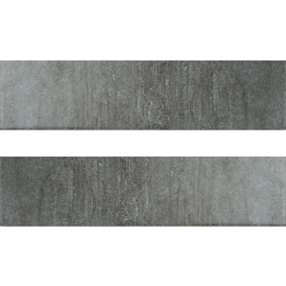 Metropolis Gray 3x12 Matte Bullnose Tile