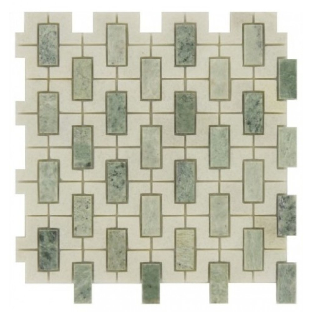 Ming Green Window 12x12 Polished Mosaic