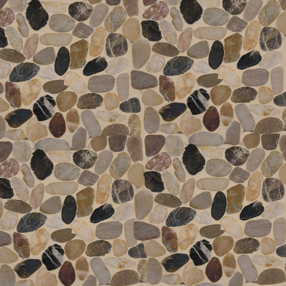Mix River Pebbles 12X12 Tumbled
