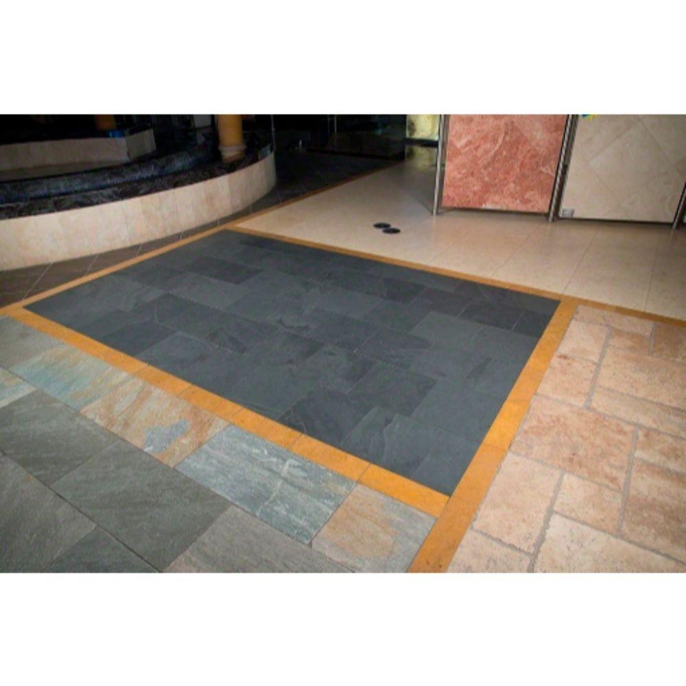 Montauk Black 16X16 Honed Slate Tile