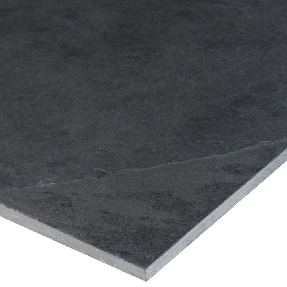 Montauk Black 4x12 Gauged Subway Tile
