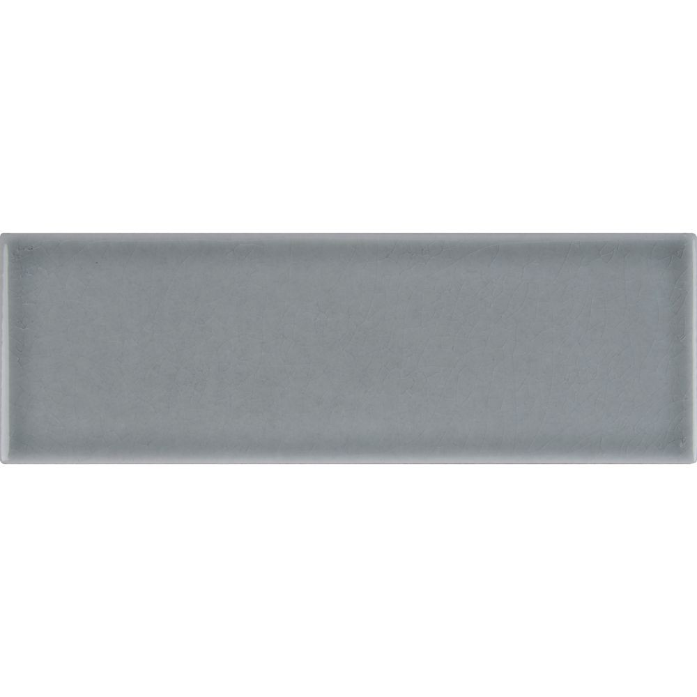 Morning Fog Handcrafted 4x12 Glossy Subway Tile
