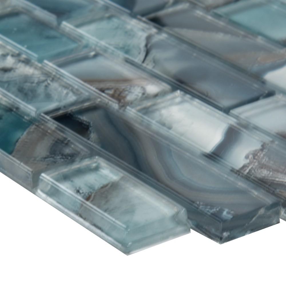 Night Sky Interlocking Pattern Crystallized Glass Mosaic