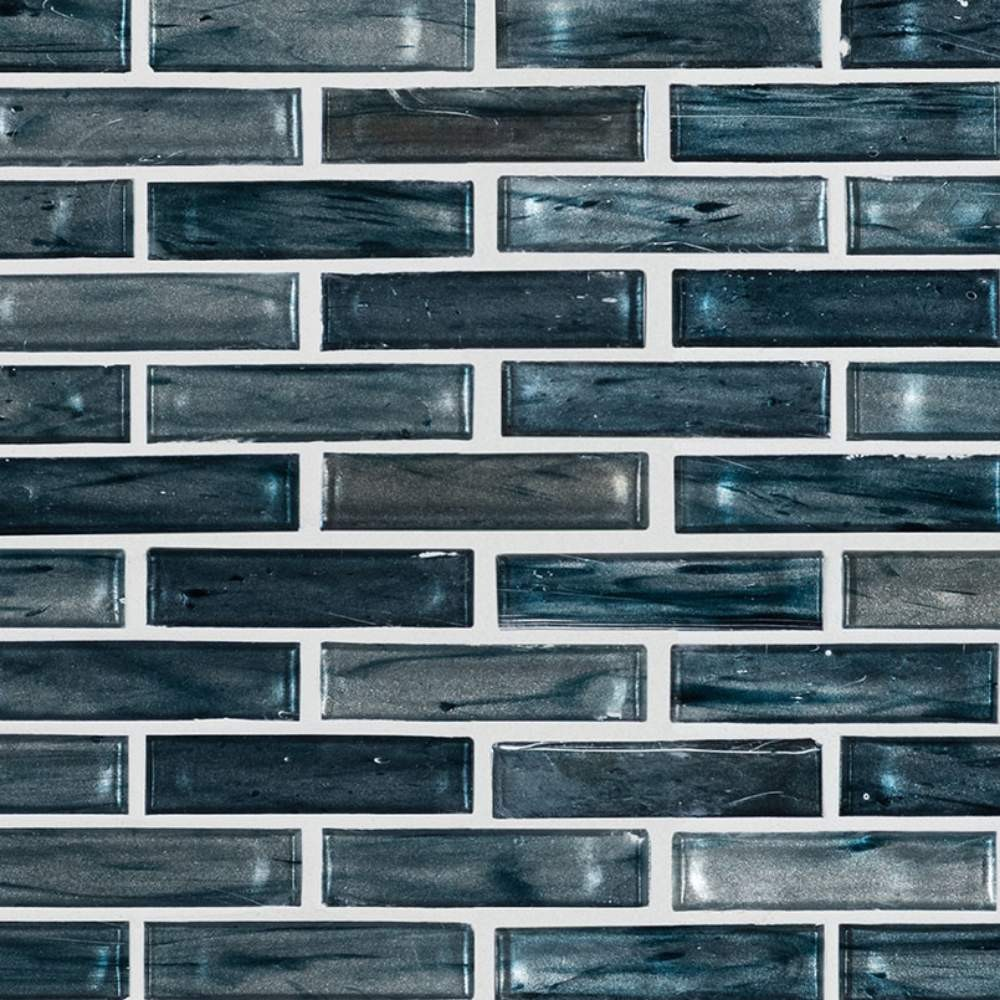Oasis Blast 1X4X6 Glass Backsplash Tile