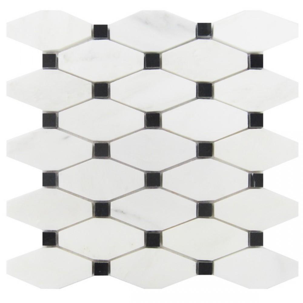 Octave Carrara With Black Dot Mosaic