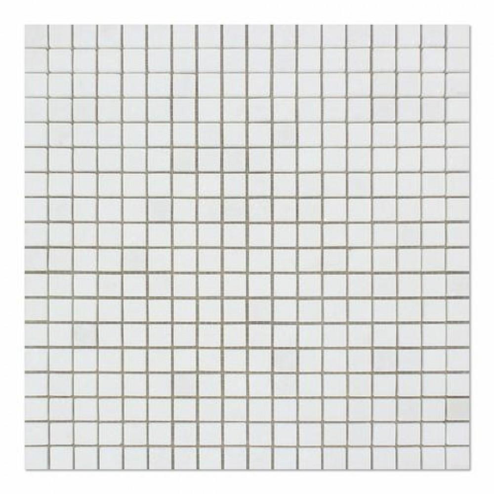 Oriental White 5/8x5/8 polished Mosaic