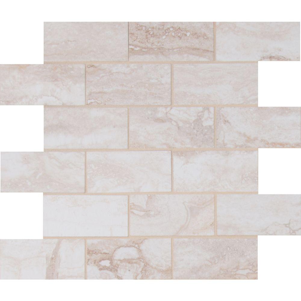 Pietra Bernini Bianco 2X4 Polished Mosaic