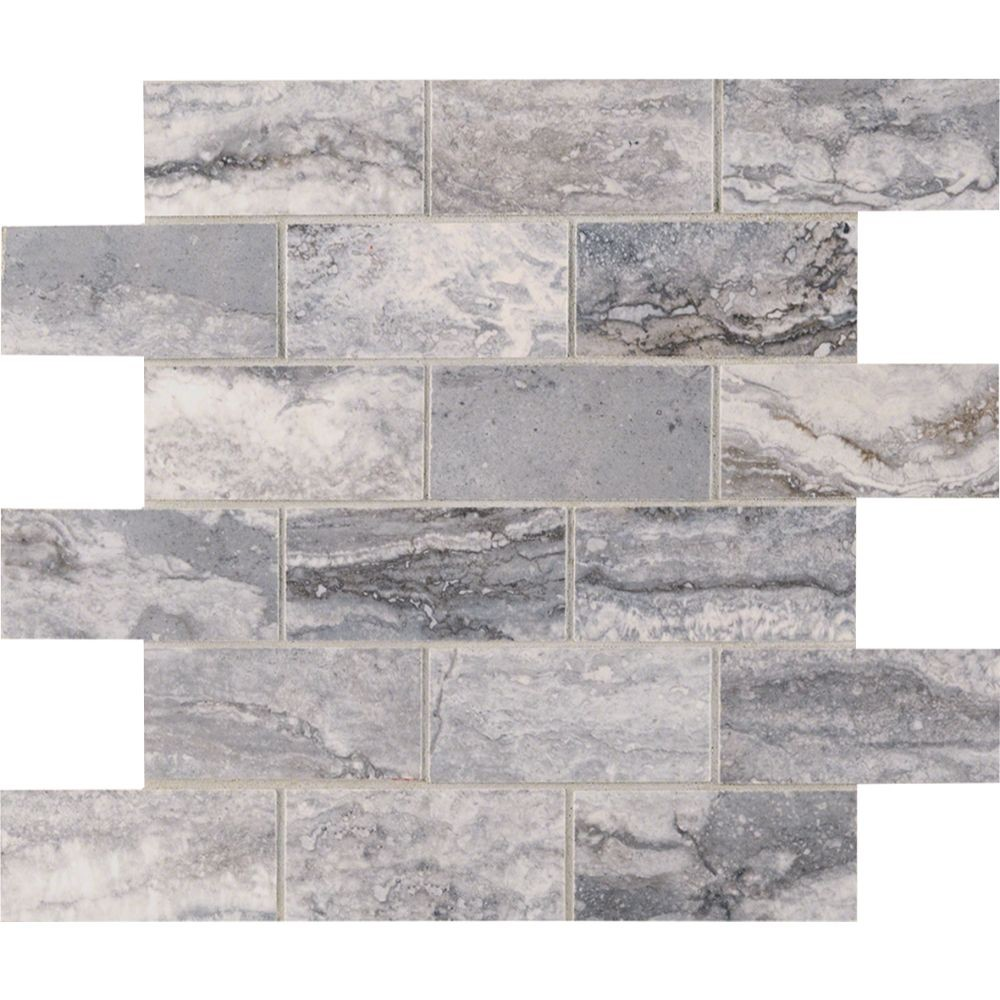 Pietra Bernini Carbone 2X4 Polished Mosaic