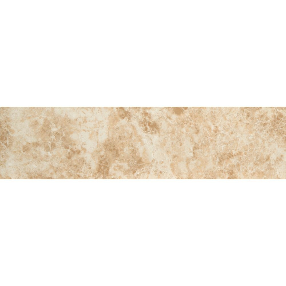 Pietra Cappuccino 3X18 Bullnose Polished