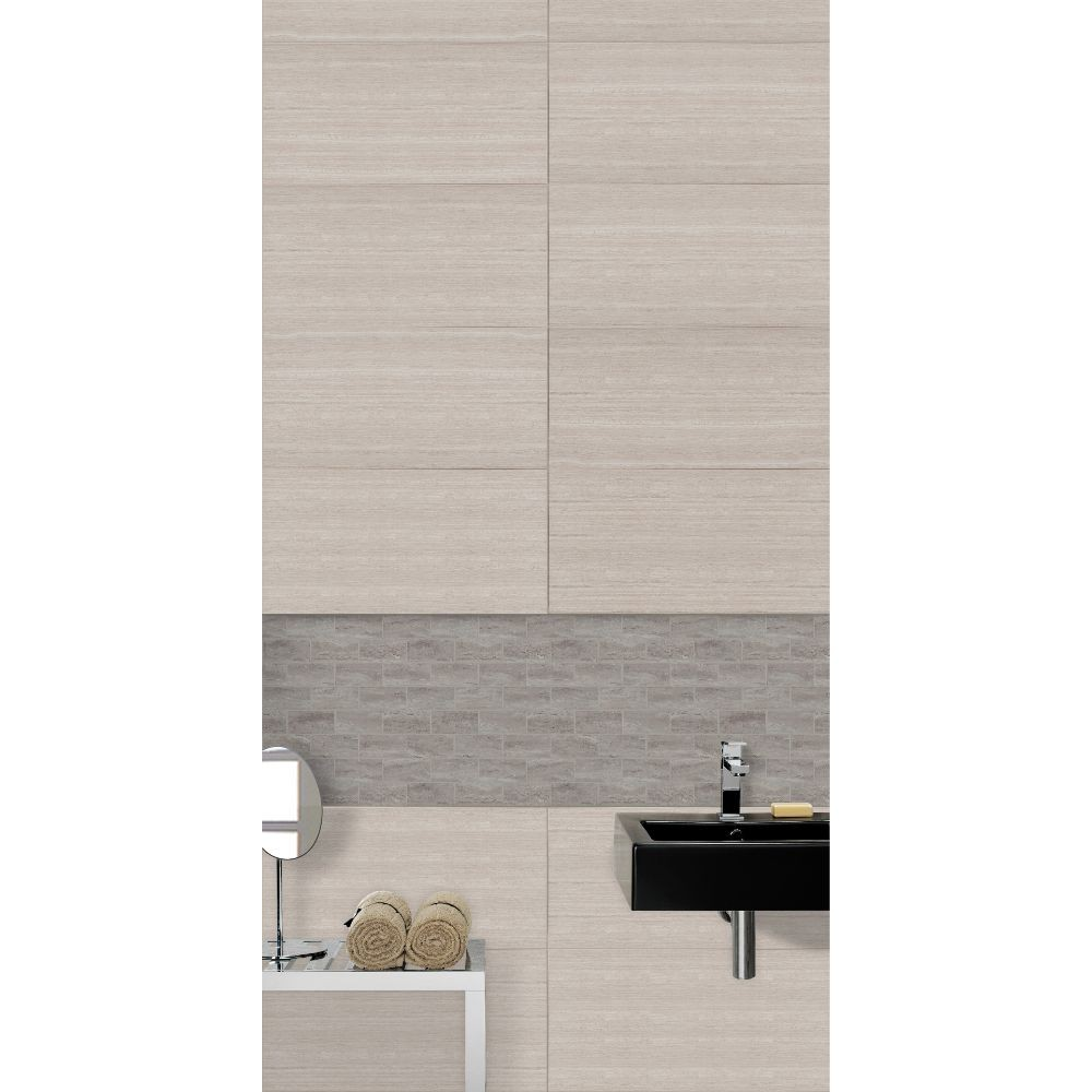 Pietra Venata White 2X4 Polished Mosaic