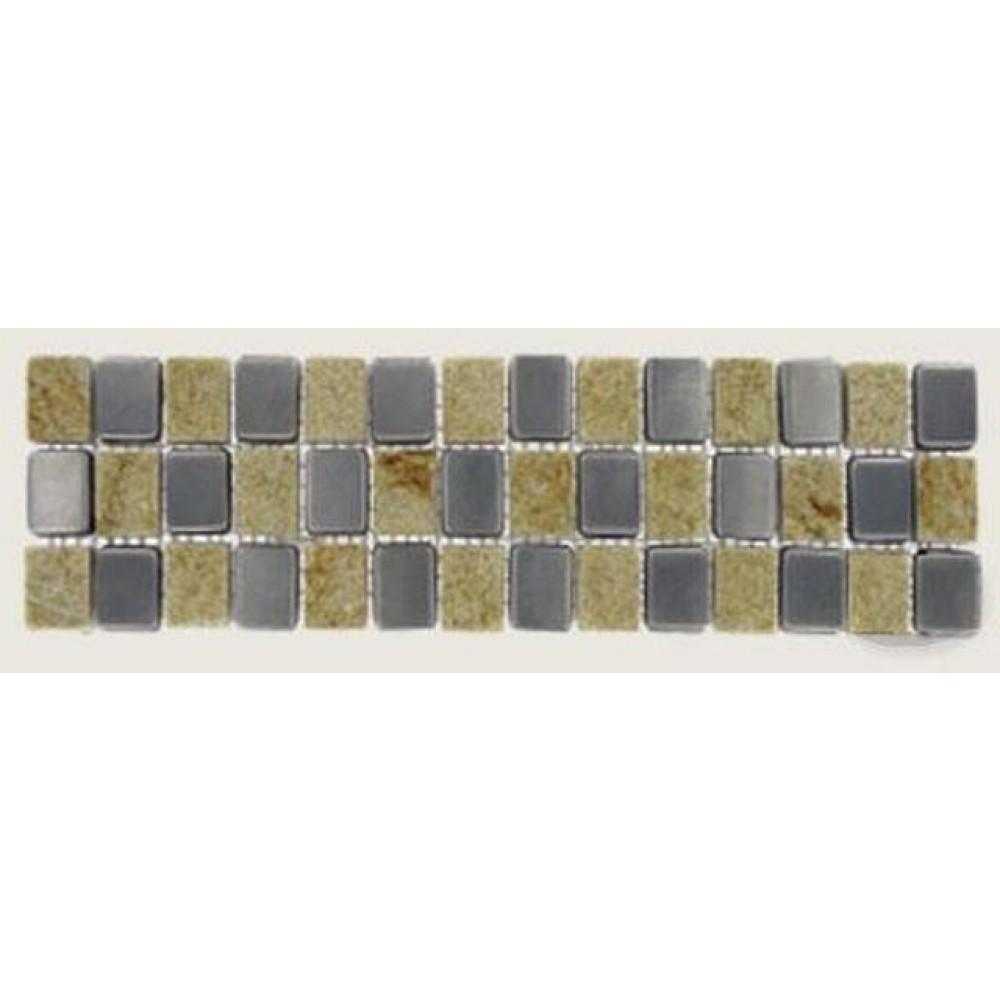 Quartzite Metal Border 3X12 Tumbled