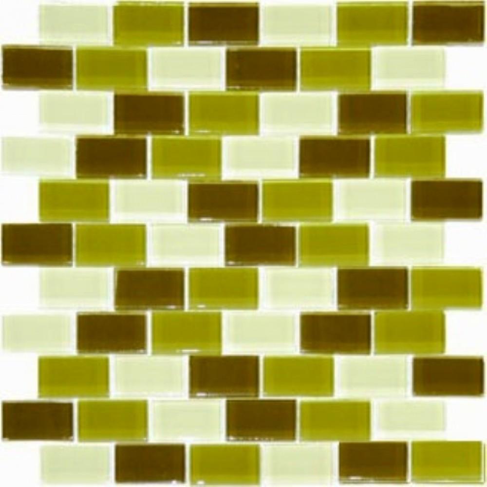 Rain Forest Blend 1x2x8mm Pattern Crystallized