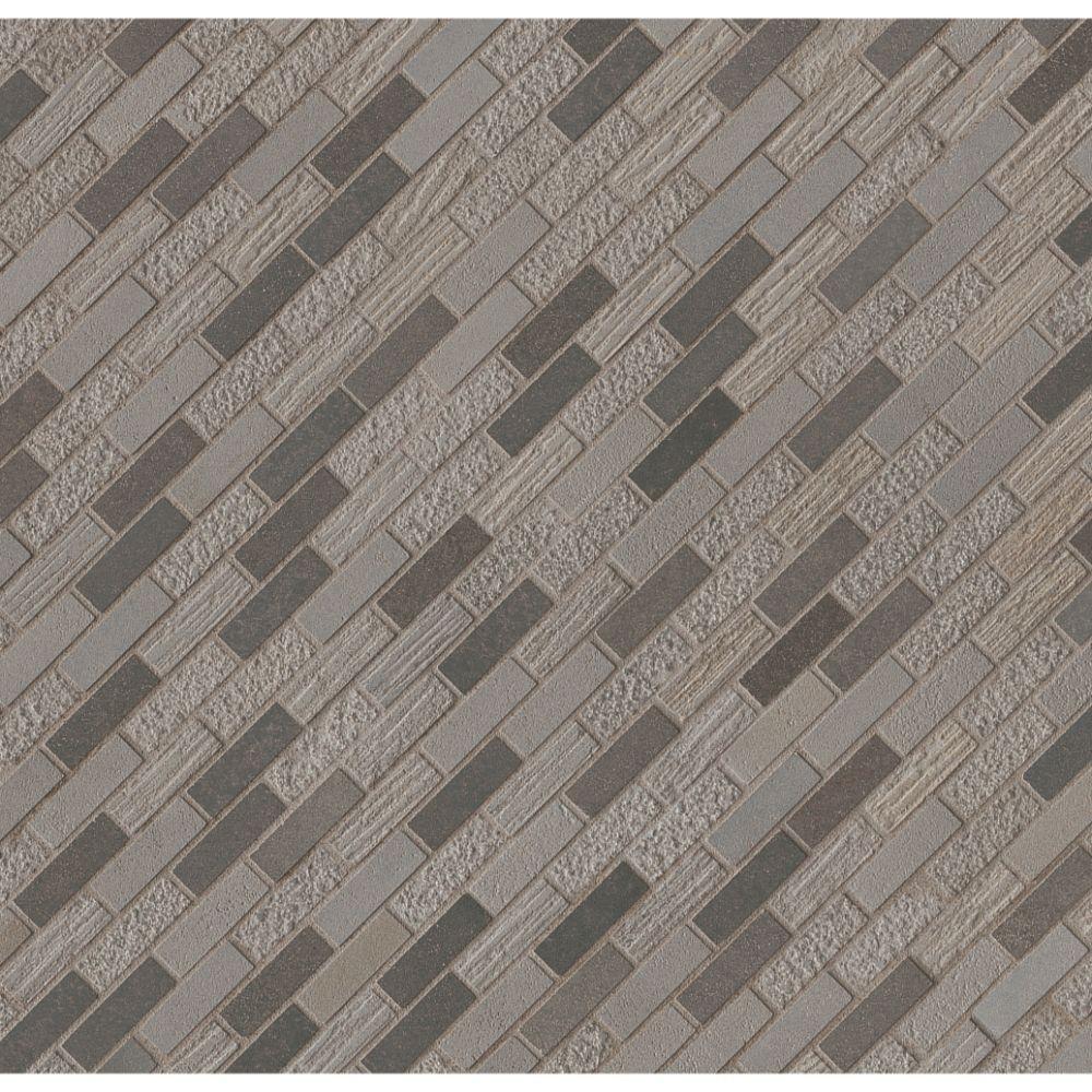 Shale 5/8x2 Mixed Finish Mosaic