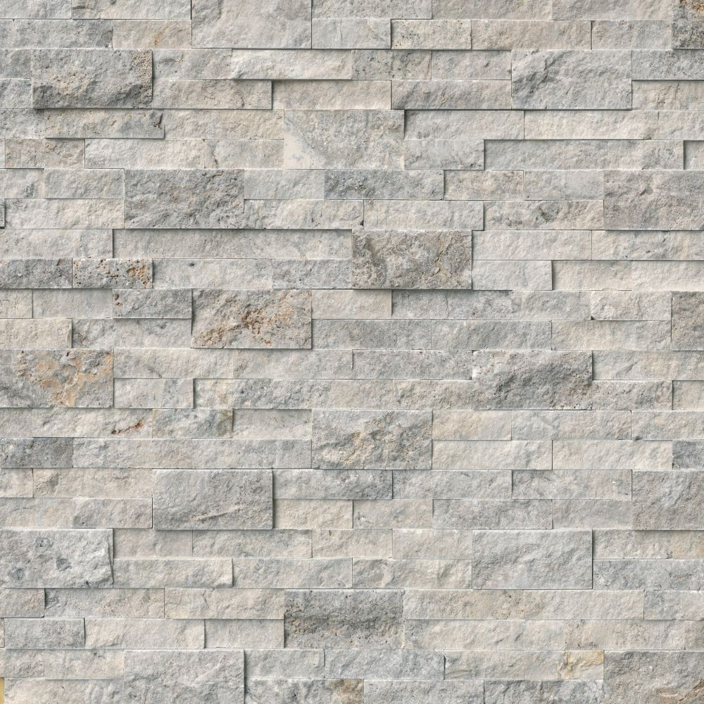 Silver Travertine 6X12X6 Corner L Panel